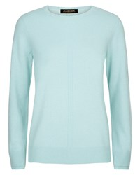 Jaeger Cashmere Crew Neck Sweater Blue