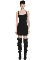 Alyx Rib Knit Dress W Faux Leather Straps