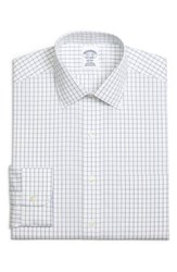 Brooks Brothers Big And Tall Regular Fit Check Dress Shirt Blue