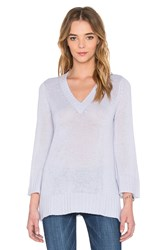 Autumn Cashmere Bell Sleeve V Neck Sweater Blue