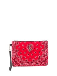 Saint Laurent Quilted Bandana Clutch Red
