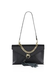 Sonia Rykiel Pyramid Leather Envelope Clutch Black