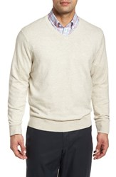 Cutter And Buck Lakemont Classic Fit V Neck Sweater Oatmeal Heather