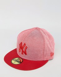 New Era 59Fifty Cap Fitted Oxford Red