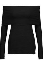 W118 By Walter Baker Lydia Off The Shoulder Ribbed Knit Top Black
