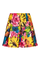 Almost Famous Floral Faux Leather Skirt Multi Coloured