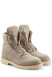 Balmain Suede Ankle Boots