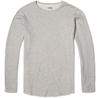Edwin Long Sleeve Terry Tee Grey Marl
