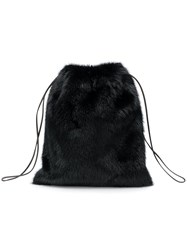 Simonetta Ravizza Furrissima Mini Backpack Black