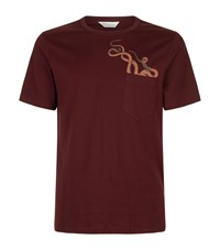 Gieves And Hawkes Octopus Pocket T Shirt Burgundy