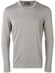 Drumohr Knit Crew Neck Jumper Grey