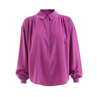 Wtr Empire Silk Shirt Fushion Pink Pink Purple