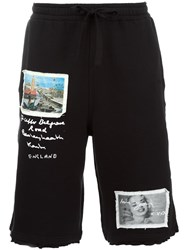 Blood Brother Multi Patch Detail Track Shorts Black