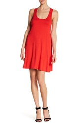 Abound Solid Racerback Tank Dress Red