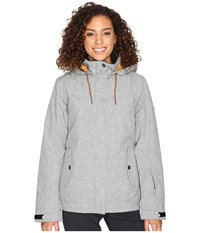 Roxy Billie Jacket Mid Heather Grey Women's Coat Gray