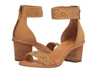 Frye Brielle Deco Back Zip Sand Oiled Nubuck Women's Dress Sandals Tan