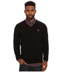 Fred Perry Classic V Neck Sweater Black Men's Sweater