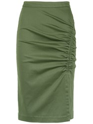 Isolda Heliconia Pencil Skirt Green