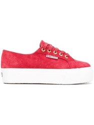 Superga 2790Suews003lm0 104 Red Dk Scarlet Furs And