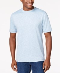 Tasso Elba Short Sleeve Space Dyed T Shirt Only At Macy's Light Blue
