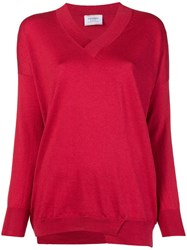 Snobby Sheep V Neck Jumper Red