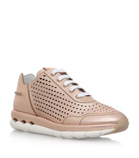 Salvatore Ferragamo Gils Perforated Sneakers Female Bronze