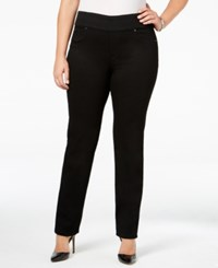 Charter Club Plus Size Pull On Slim Leg Jeans Only At Macy's Saturated Black