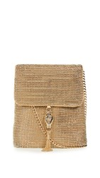 Whiting And Davis Jeanne Cross Body Bag Gold