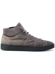 Santoni Suede Sneakers Grey