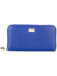 Dolce And Gabbana Long 'Continental' Wallet Blue