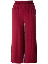I'm Isola Marras Straight Cropped Trousers Red