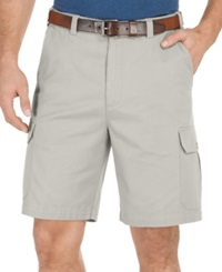 Geoffrey Beene Big And Tall Solid Cargo Shorts Stone