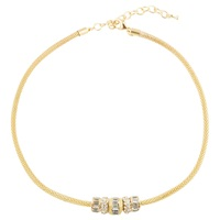 Adele Marie Glass Stone Chunky Chain Necklace Gold