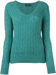 Polo Ralph Lauren V Neck Jumper Green