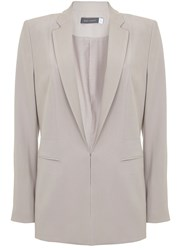 Mint Velvet Oyster Tailored Blazer Light Brown