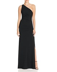 Laundry By Shelli Segal One Shoulder Gown With Beaded Side Black