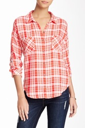 Candc California Triblend Two Pocket Plaid Shirt Red