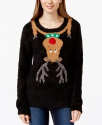 It's Our Time Juniors' Rudolph Light Up Fuzzy Sweater