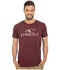 O'neill Supreme Short Sleeve Screen Tee Burgundy Men's Short Sleeve Pullover