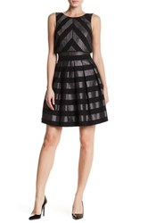 Karen Millen Metallic Stripe Detail Dress