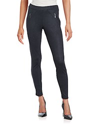 Matty M Zippered Ankle Length Leggings Charcoal
