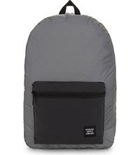 Herschel Day Night Packable Daypack Reflective Backpack Silver Black