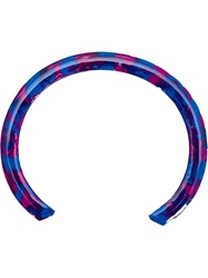 Gemma Redux Marbled Paint Bangle Blue