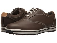 Footjoy Contour Casual Spikeless Traditional Bal Dark Brown Men's Golf Shoes