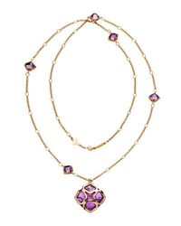 Chopard Imperiale Amethyst Station Necklace With Diamonds