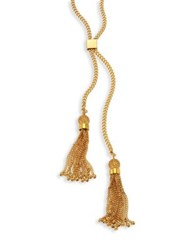 Chloe Lynn Long Chain Tassel Necklace Gold