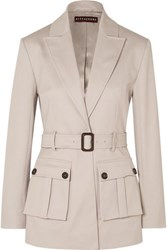 Alexachung Belted Cotton Blend Drill Blazer Stone