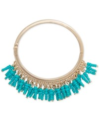 Inc International Concepts Robert Rose For Gold Tone Shaky Beads Hinged Bangle Bracelet Only At Macy's Blue