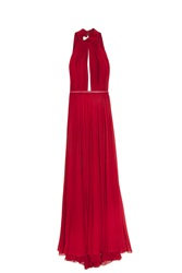 Elie Saab Halter Neck Gown Red