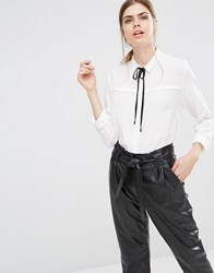 Just Female Barbro Shirt With Neck Tie White